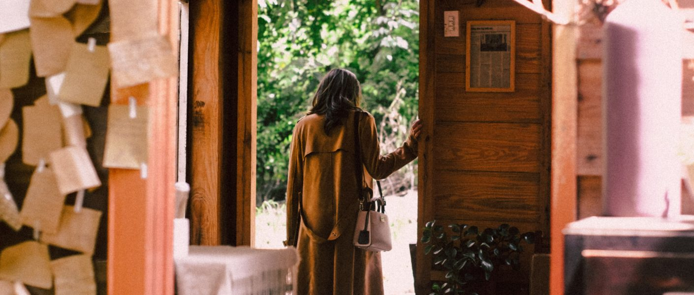 Woman in Cabin Door