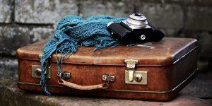 luggage packed suitcase